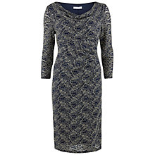 Buy Gina Bacconi Sequinned Two Tone Lace Dress, Navy Online at johnlewis.com