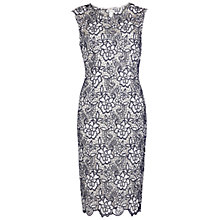 Buy Gina Bacconi Bouquet Guipure Lace Shift Dress, Spring Navy Online at johnlewis.com