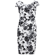 Buy Gina Bacconi Floral Pique Dress, White/Black Online at johnlewis.com