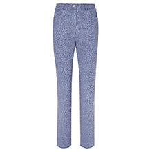 Buy Viyella Animal Jacquard Print Regular Fit Jeans, Blue Online at johnlewis.com