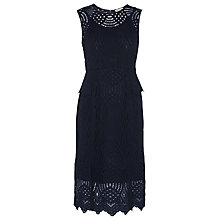 Buy Whistles Clementine Peplum Lace Dress, Navy Online at johnlewis.com