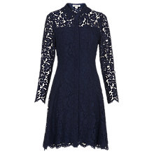 Buy Whistles Lace Shirt Dress, Navy Online at johnlewis.com