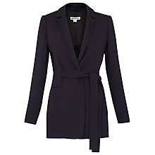 Buy Whistles Belted Soft Crepe Jacket, Navy Online at johnlewis.com