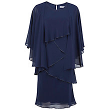 Buy Gina Bacconi Chiffon Shawl and Beaded Edge Dress, Navy Online at johnlewis.com