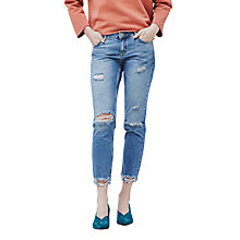Buy Mango Straight Fit Joe Jeans, Medium Blue Online at johnlewis.com