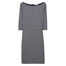Buy Mango Houndstooth Fitted Dress, Medium Grey Online at johnlewis.com