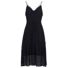 Buy Whistles Daisy Lace Dress, Navy Online at johnlewis.com