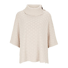 Buy Viyella Start Stitch Poncho, Oatmeal Online at johnlewis.com