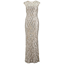 Buy Gina Bacconi Sequin Lace Maxi Dress, Silver Online at johnlewis.com