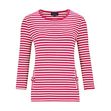 Buy Viyella Stripe Top, Pink/White Online at johnlewis.com