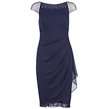 Buy Gina Bacconi Beaded Neckline Mesh Dress Online at johnlewis.com