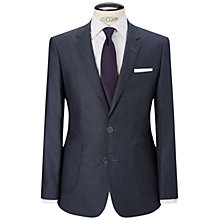 Buy HUGO by Hugo Boss Hugen Dot Slim Fit Blazer, Medium Blue Online at johnlewis.com