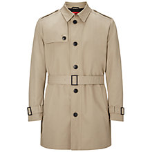 Buy HUGO by Hugo Boss Merito Trench Coat, Medium Beige Online at johnlewis.com