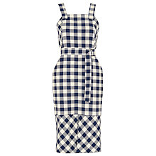 Buy Whistles Gita Apron Check Dress, Blue/Multi Online at johnlewis.com