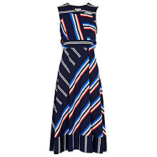 Buy Whistles Multi Stripe Dress, Multicolour Online at johnlewis.com
