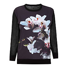 Buy Ted Baker Celdana Etheral Posie Jumper, Black Online at johnlewis.com