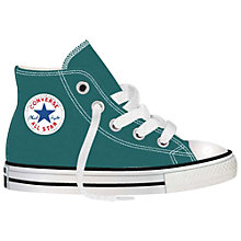 Buy Converse Children's Chuck Taylor All Star Classic High Top Shoes, Teal Online at johnlewis.com