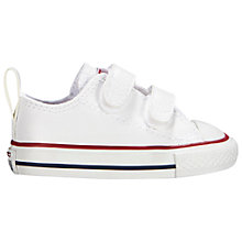 Buy Converse Children's Chuck Taylor All Star 2V Rip-Tape Shoes, White Online at johnlewis.com