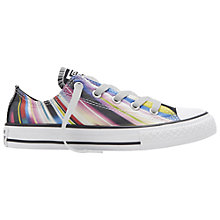 Buy Converse Children's Chuck Taylor All Star Low Rise Trainers, Black Multi Online at johnlewis.com
