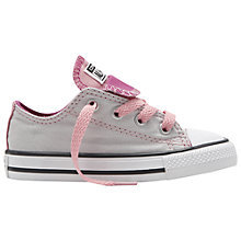 Buy Converse Children's Chuck Taylor All Star Double Tongue Trainers, Grey Online at johnlewis.com