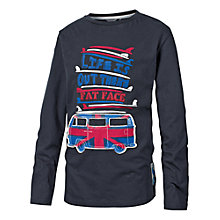 Buy Fat Face Union Jack Van T-Shirt, Blue Online at johnlewis.com