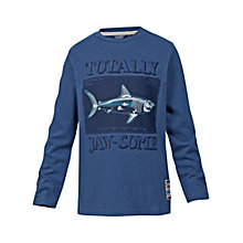 Buy Fat Face Boys' Jawsome Long Sleeve T-Shirt, Blue Online at johnlewis.com