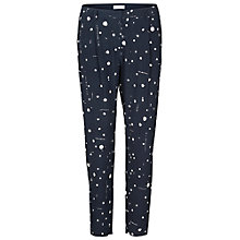 Buy Samsoe & Samsoe Printed Stamford Trousers, Blue Ink Online at johnlewis.com