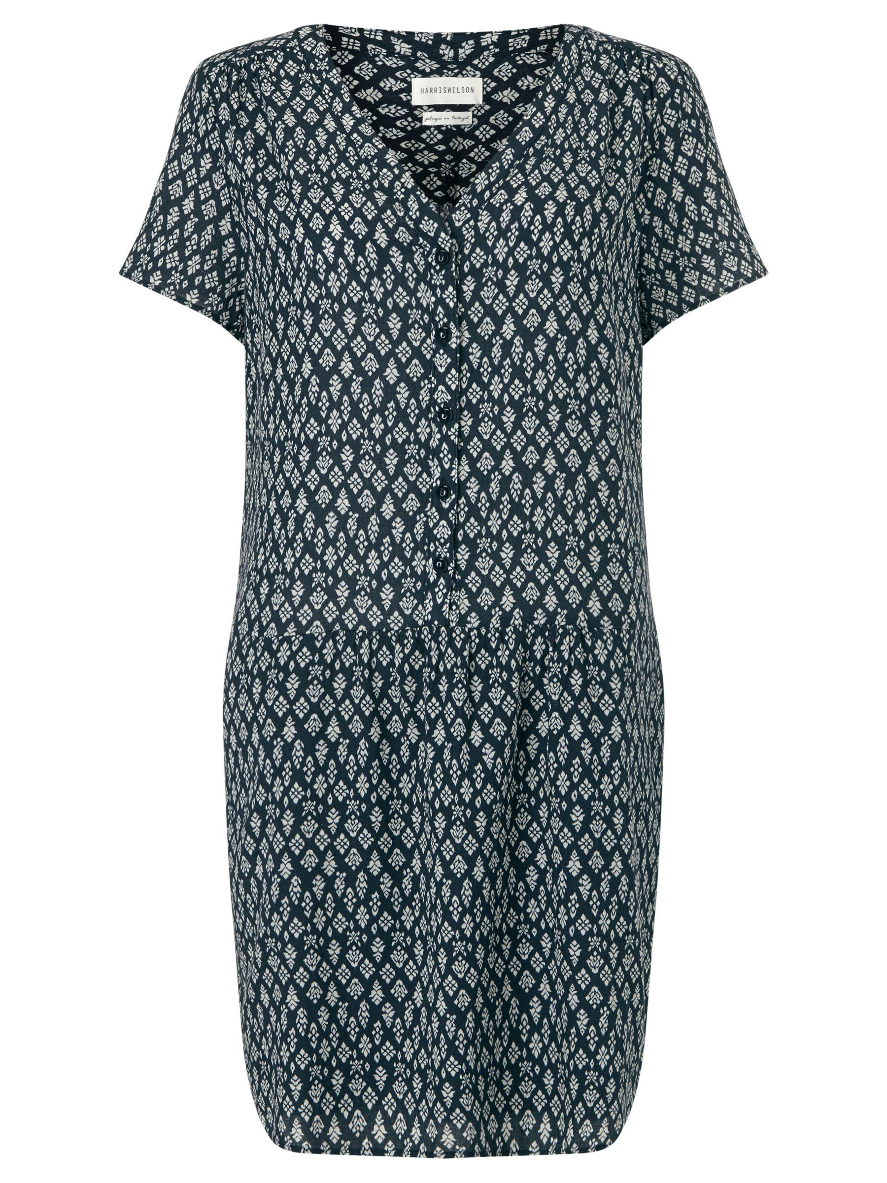 Harris wilson Harris Wilson Noella Printed Dress, Navy