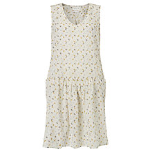 Buy Harris Wilson Noor Little Leaves Print Dress, Cream Online at johnlewis.com