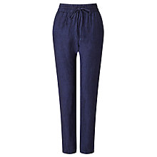 Buy Harris Wilson Nahila Linen Trousers, Navy Online at johnlewis.com