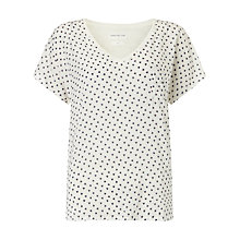 Buy Harris Wilson Marjane Ditsy Linen T-Shirt, Ecru Online at johnlewis.com