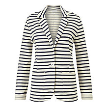 Buy Harris Wilson Magic Stripe Jersey Jacket, Marine/Ecru Online at johnlewis.com