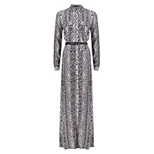 Buy ST Studio Leo Zigzag Maxi Shirt Dress, White/Black Online at johnlewis.com