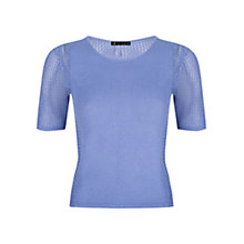 Buy ST Studio Open Knit Short Sleeve Jumper, Faded Blue Online at johnlewis.com