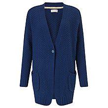 Buy Harris Wilson Ludmilla Chunky Knit Cardigan, Indigo Online at johnlewis.com