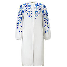Buy Somerset by Alice Temperley Floral Embroidered Oversize Shirt, White Online at johnlewis.com