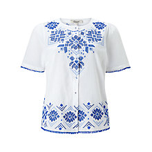 Buy Somerset by Alice Temperley Embroidered Top, White Online at johnlewis.com