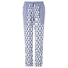 Buy Somerset by Alice Temperley Rope Print Trousers, White/Blue Online at johnlewis.com