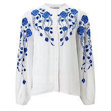 Buy Somerset by Alice Temperley Embroidered Shirt, White Online at johnlewis.com