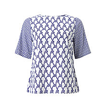 Buy Somerset by Alice Temperley Rope Print Top, White/Blue Online at johnlewis.com