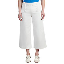 Buy Somerset by Alice Temperley Cropped Button Jeans, White Online at johnlewis.com