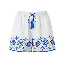 Buy Somerset by Alice Temperley Embroidered Shorts, White Online at johnlewis.com