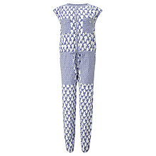 Buy Somerset by Alice Temperley Rope Print Jumpsuit, White/Blue Online at johnlewis.com
