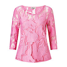 Buy Somerset by Alice Temperley 3/4 Sleeve Lace Top Online at johnlewis.com