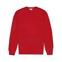 Buy Reiss Hart Merino Wool Jumper, Burnt Amber Online at johnlewis.com