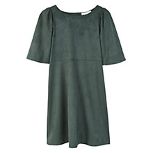 Buy Mango Flared Sleeves Dress, Green Online at johnlewis.com
