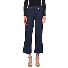 Buy Whistles Cropped Wide Leg Jeans, Denim Online at johnlewis.com