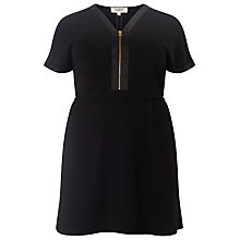 Buy Studio 8 Lisa Zip Front Tunic Dress, Black Online at johnlewis.com