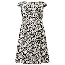 Buy Studio 8 Monty Floral Print Dress, Black/White Online at johnlewis.com