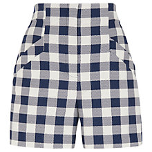 Buy Whistles Gita Check Shorts, Blue/White Online at johnlewis.com